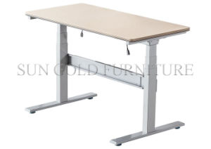 Modern L Shape Office Table Electric Height Adjustable Desk (SZ-HDL008) pictures & photos
