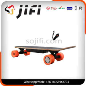 Four Wheels Electric Strong Skateboard Dual Hub Motor with Remote Control pictures & photos