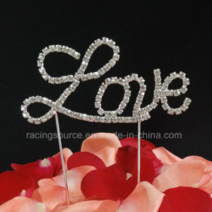 Crystal Love Letter Cake Topper Rhinestone Wedding Cake Topper for Cake pictures & photos