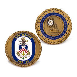 Promotional Gift Gold Souvenir Enamel Coin pictures & photos