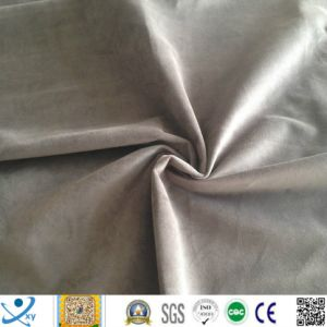 Plain Purple Super Soft Velvet Sofa Fabric for Furniture Upholstery pictures & photos