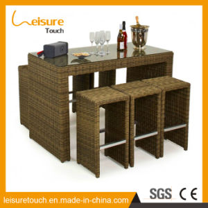 High Quality Leisure Patio Garden Wicker Outdoor Furniture Pub Bar Bistro Rattan Chair and Table pictures & photos