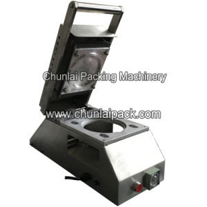 Manual Cup Pre-Cut Lid Sealing Machine pictures & photos