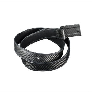 Surfing Carbon Fiber with Custom Logo Printing Cowhide Belt Fancy Ladies pictures & photos