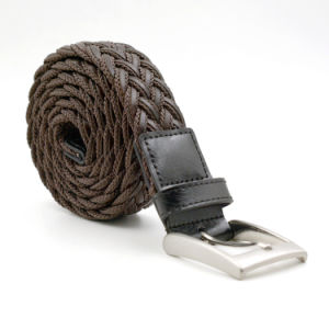 Mix Material PU Leather and Rope Knitted Braided Men Belts pictures & photos