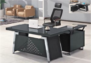 Special New Design Glass Furniture Modern Office Desk (HX-GL007) pictures & photos