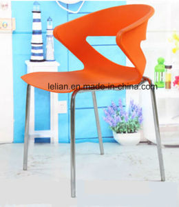 Poly Stacking Dining and Coffee Chair with Metal Leg (LL-0054) pictures & photos