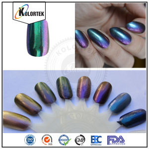 Chrome Chameleon Pigment Colour Travel Pigment for Nail Polish pictures & photos