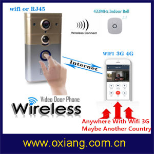 High Quality Wireless WiFi Doorbell with Ring and Control Cammera by APP Wd8 pictures & photos