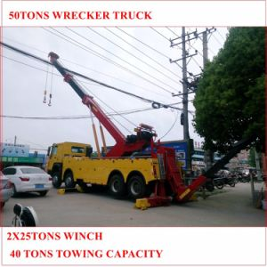 50tons Heavy Duty Wrecker Truck with 2 Winch pictures & photos