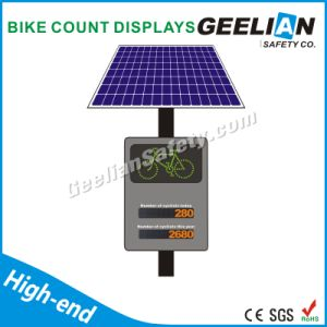 Most Popular Style Solar Powered Traffic Sign / LED Flashing Bike Road Sign pictures & photos