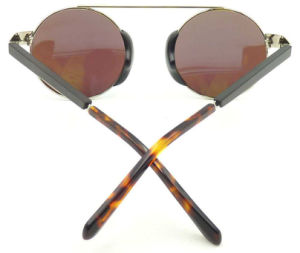 Fw17128 Latest Design Round Women Sunglasses, Wooden Temple Quality Sunglass pictures & photos