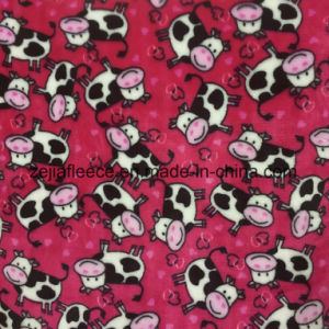 Flannel Fleece 100% Polyester Fabric with Carton Print pictures & photos