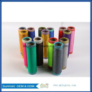Polyester Filament Yarn Dope Dyed 200d/144f DTY pictures & photos