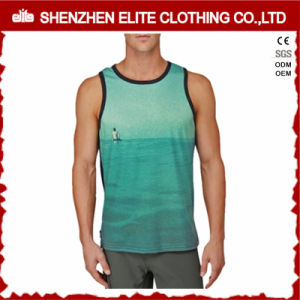 OEM Service Cheap Men 3D Printed Polyester Sleeveless T Shirt (ELTMBJ-464) pictures & photos