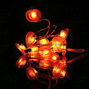 LED Timer Apple Shape String Lights 20 Lights Flexible Silver Wire pictures & photos