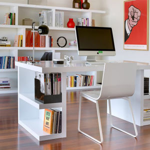 Modern White Corian Acrylic Solid Surface Study Table Office Desk pictures & photos