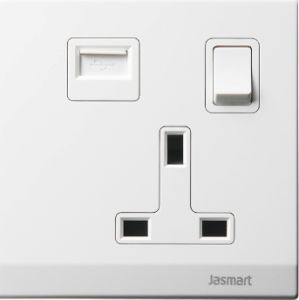 13A Switched Socket with USB Outlet pictures & photos