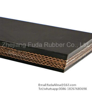 Black Fabric Heavy Duty Rubber Conveyor Belt (SGS, ISO9001: 2008) pictures & photos