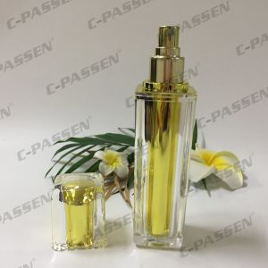 Gold Acrylic Bottle with Spray Pump for Cosmetic Packaging (PPC-ALB-061) pictures & photos