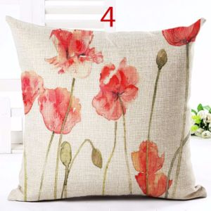 Red Flower Cover Pillow Textile Printing Throw Cover Cushion pictures & photos