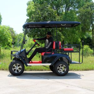 Good Quality 4 Seater Electric Golf Cart with Big Tyre pictures & photos