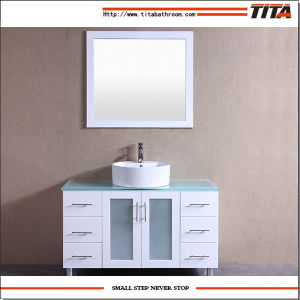 White Lacquer Glass Vanity Top Bathroom Vanity T9140-36wl pictures & photos