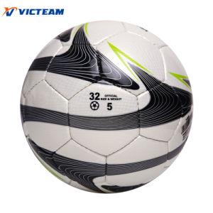 Texture PU Leather Hand Sewing Pakistan Soccer Ball pictures & photos