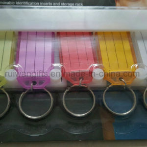 Wholesale ID Name Tag, Plastic Key Tag, Hang Tag with ID Blank Label pictures & photos