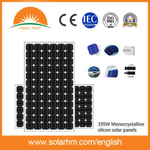 (HM195M-72-1) 195W Mono-Crystalline Solar Panel for Solar System pictures & photos