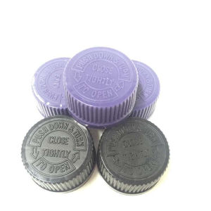 28mm Pharmaceutical Black Plastic Child Safety Screw Lid Manufacturer