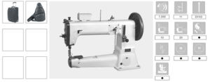 Cylinder Bed Industrial Leather Heavy Duty Sewing Machine pictures & photos