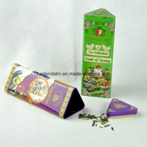 Custom Pyramid Shape Metal Tea Tin Box with Food Grade Varnish pictures & photos