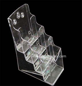 Clear Acrylic A6 4 Tires Brochure Stand Manufacturer Btr-H6312-3 pictures & photos