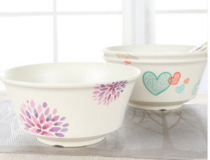 Hot-Sell Natural Bamboo Fiber Kitchenware Cute Baby Bowl (YK-B3021) pictures & photos