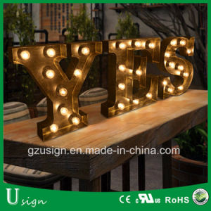 High Quality Indoor/Outdoor Large Light up Marquee Bulb Letters pictures & photos