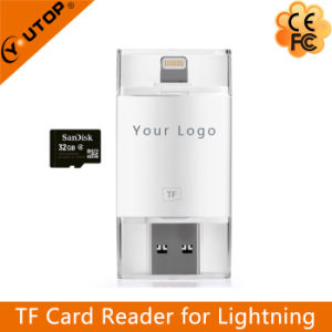 Microsd TF USB + Lightning Card Reader for iPhone iPad iPod Ios Devices (YT-R001) pictures & photos