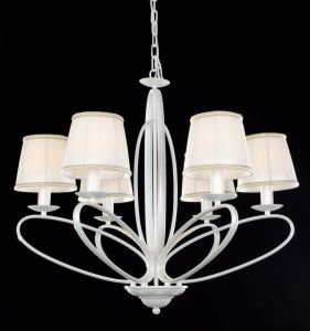 Russia Top Sale Plain White Fabric Shade Modern Chandelier pictures & photos