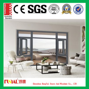 6mm Tempered Glass Aluminum Casement Window pictures & photos