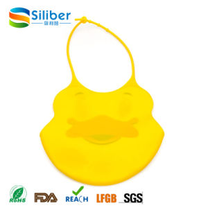 Waterproof Silicone Baby Bib Soft Cute for Toddlers Babies with Large Pocket Baby Bib Manufacturer pictures & photos