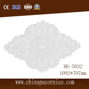 New Design Carving PU Ceiling Relief Medallion for Hotel Bathroom Decoration pictures & photos