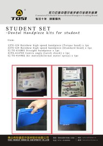 Dental Student Kits High Speed & Low Speed Handpiece Tosi Foshan pictures & photos