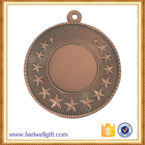 3D Embossed Summer Event Gold Brass Color Running Blank Medal pictures & photos