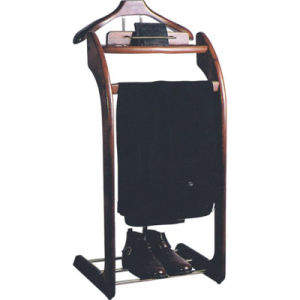 Free Standing Luxury Walnut Wooden Valet Stands pictures & photos