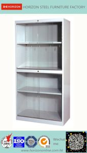 Sliding Doors Book Cabinet with Japanese Galvanized Steel Sheet and Epoxy Powder Coating pictures & photos