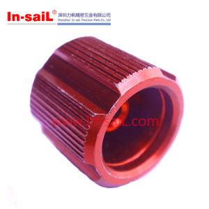 Precision CNC Machining Aluminium Plate with Red Anodized pictures & photos