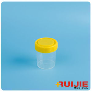 Disposable Plastic 60ml Urine Cup Container with Screw Cap pictures & photos