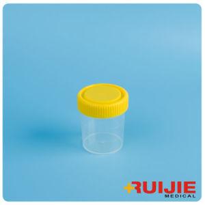 Disposable Plastic 60ml Urine Cup Container with Screw Cap pictures & photos