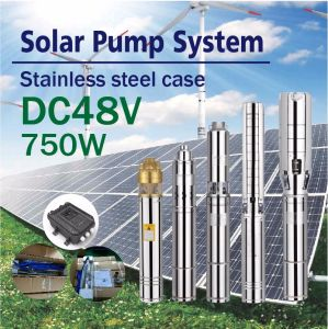 DC 48V Solar Woter Pump Input Power 750W pictures & photos