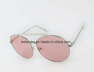 Latest Design with Plastic Tube Fit in Metal Eyebrow Round Frame Metal Sunglasses Km16150 pictures & photos